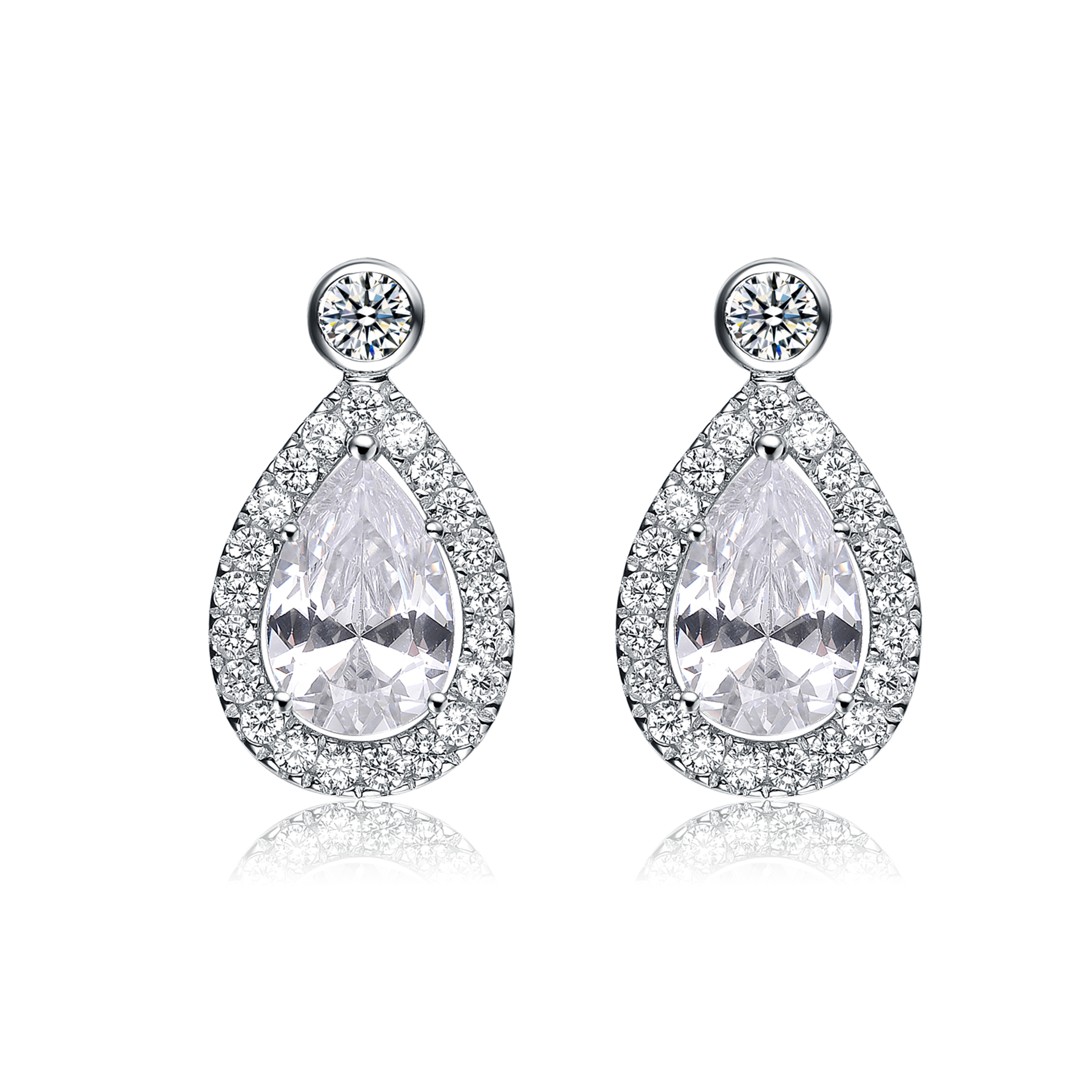 pear drop earrings j sterling fancy p shaped zirconia jaz stud silver asp cubic